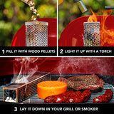 Smoke Tube Pellet Smoker Gas Grill Electric Charcoal Grills Smokers Billows Cold Smoke Ideal Smoking Cheese Fish Pork Beef Nuts Stainless Steel