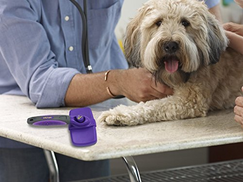 Self Cleaning Slicker Brush – Gently Removes Loose Undercoat, Mats and Tangled Hair – Your Dog or Cat Will Love Being Brushed with The Grooming Brush