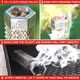 Smoker Tube 12 inches Premium Pellet 5 Hours of Billowing Smoke Any Grill or Smoker Hot or Cold Smoking Easy Safety and Tasty Smoking Stainless Steel