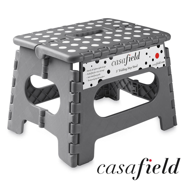 "FanBell 9"" Collapsible Folding Plastic Kitchen Step Foot Stool w/ Handle - Adults/Kids"