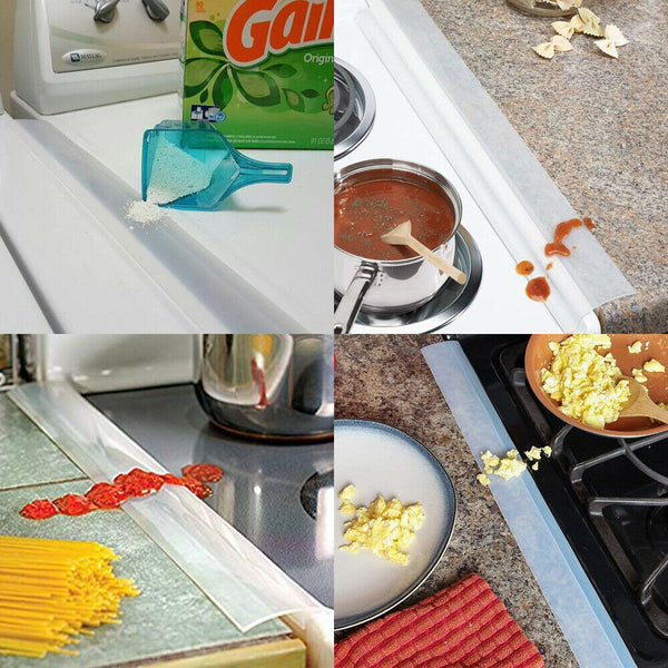 "FanBell Silicone Kitchen Stove Gap Cover 21"" Premium Cooktop Counter Grade Mat Guard US"