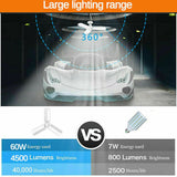 60W 6000lm E27 LED Garage Shop Work Lights Ceiling Fixture Deformable Fold Lamp
