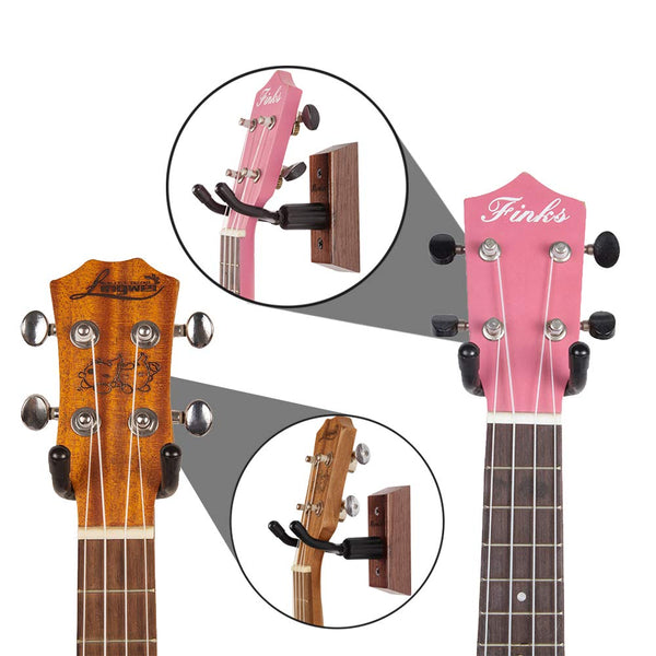 Ukulele Wall Mount Hanger Stand Holder Fits Mandolin Banjo Ukulele Hanger Display For Concert, Home, Studio, Exhibition