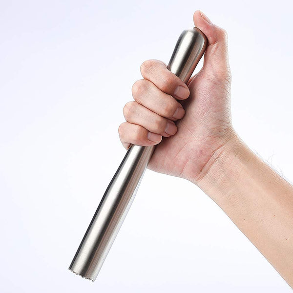 "FanBell 8.8"" 225MM Stainless Steel Cocktail Muddler, Easy to Use Dishwasher Safe Professional Drink Muddler"