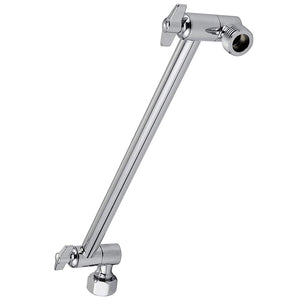 Adjustable Shower Arm Extension Brass with High Polished Chrome Finish 11+""