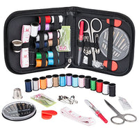 Sewing Kit for Traveler Adults Beginner Emergency DIY Sewing Supplies Organizer Filled with Scissors Thimble Thread Sewing Needles Tape Measure