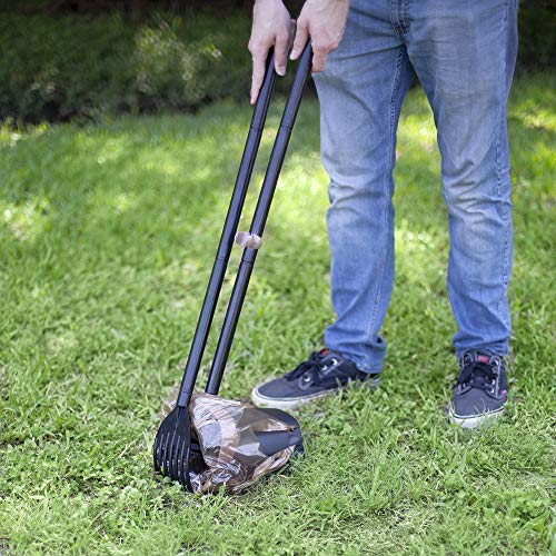 70067 Arm & Hammer Swivel Bin & Rake Pooper Scooper, Scented Bags included, One Size, Black/Penny