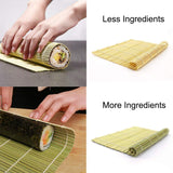 Sushi Making Kit, Beginner Sushi Rolling Mat DIY Includes 2 Bamboo Roller Mats 1 Rice Paddle 1 Rice Spreader 5 Pairs Chopsticks 2 Plates