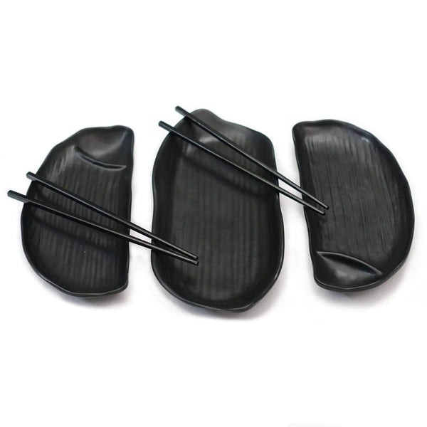 Sushi Set, 5 pieces (Black Melamine)