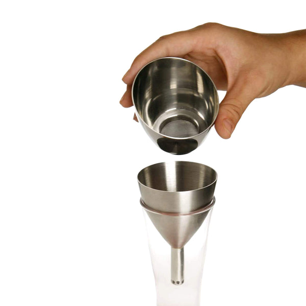 FanBell Wine Aerator Shower Funnel with Sediment Strainer