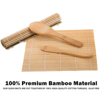 Sushi Making Kit Bazooka Maker Bamboo Mats, Bamboo Chopsticks, Avocado Slicer, Paddle, Spreader, Sushi Knife, Chopsticks Holder and Cotton Bag