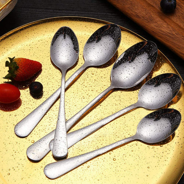 FanBell Stainless Steel Spoons, 6PCS Stainless Steel Tablespoons,7-Inches