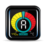 FanBell UberTuner - Professional Clip-On Tuner for All Instruments - with Guitar, Ukulele, Violin, Bass & Chromatic Tuning Modes