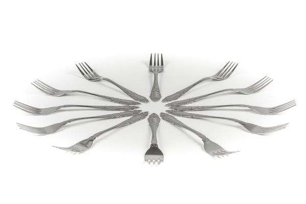 FanBell Dinner Forks, Stainless Steel Table Forks, Flatware (Set of 12)