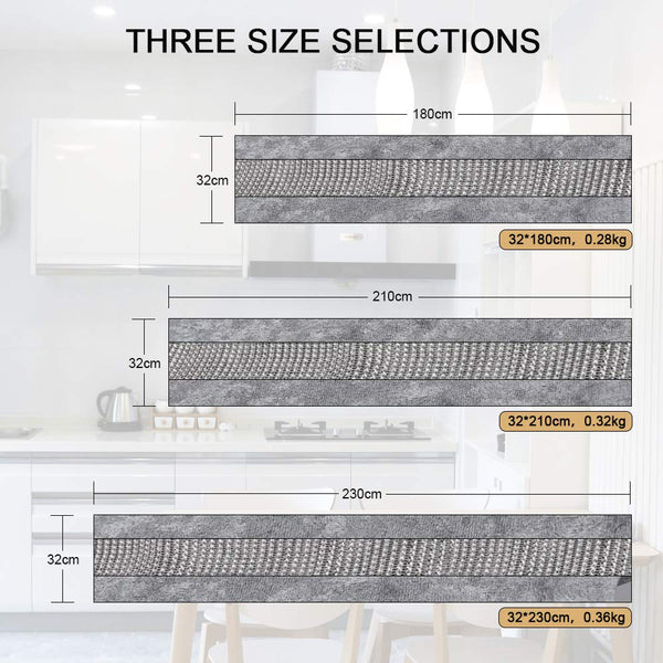 FanBell Table Runner, Rectangular Coffee Dining Table Cloth Dresser Runners with Diamante Strip for Home Kitchen Party Wedding Decorations Gray