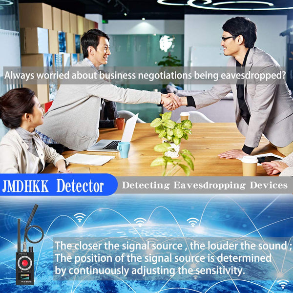 Anti Spy RF Detector Wireless Bug Detector Signal for Hidden Camera Laser Lens GSM Listening Device Finder Radar Radio Scanner Wireless Signal Alarm