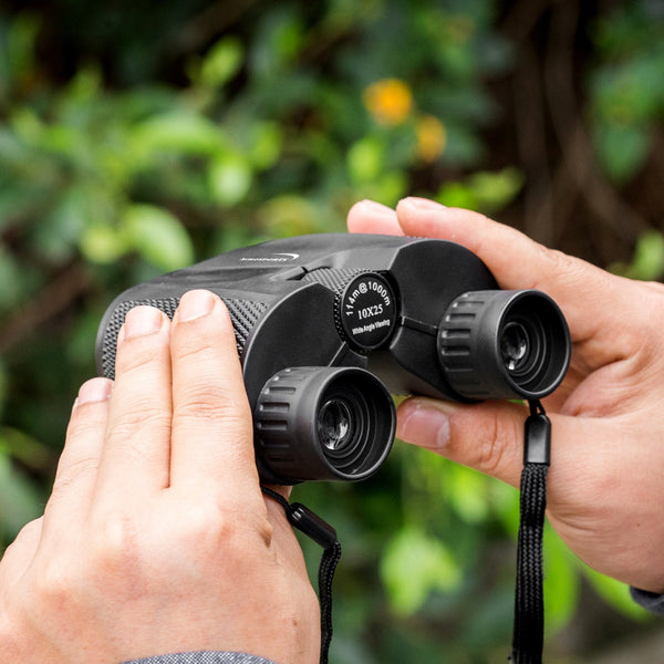 10x25 Folding High Powered Compact Binoculars Adults Kids With Weak Light Night Vision Clear Binocular Bird Watching Outdoor Sports Games and Concerts