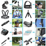50-In-1 Action Camera Accessory Kit Compatible with GoPro Hero 8 Max 7 6 5 4 Black GoPro Fusion Silver White Insta360 DJI AKASO APEMAN Campark SJCAM