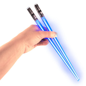 FanBell Light Up LightSaber Chopsticks, Blue Pair