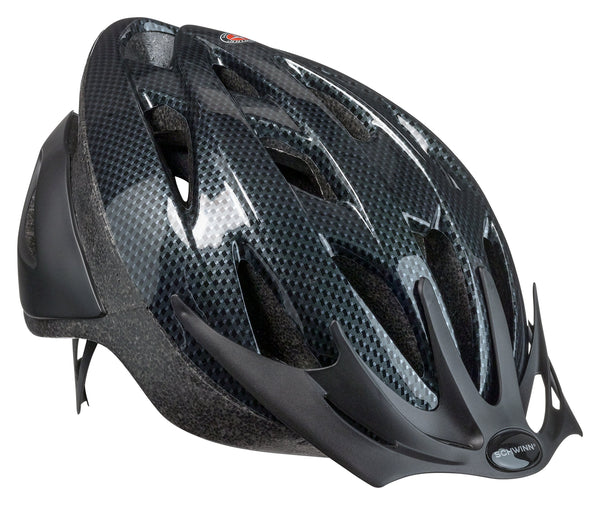 FanBell Thrasher Bike Helmet, Lightweight Microshell Design, Adult, Carbon