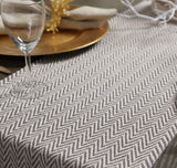 FanBell Braided Farmhouse Table Runner, 15 x 72 inches, Gray