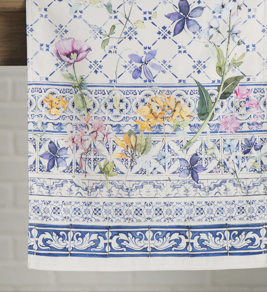 FanBell Faïence 100% Cotton Table Runner for Party | Dinner | Holidays | Kitchen | Spring/Summer (14.5 Inch by 72 Inch)