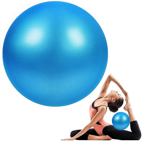 Mini Exercise Ball - 9 Inch Small Bender Ball for Stability, Barre, Pilates, Yoga, Core Training and Physical Therapy (Aqua)