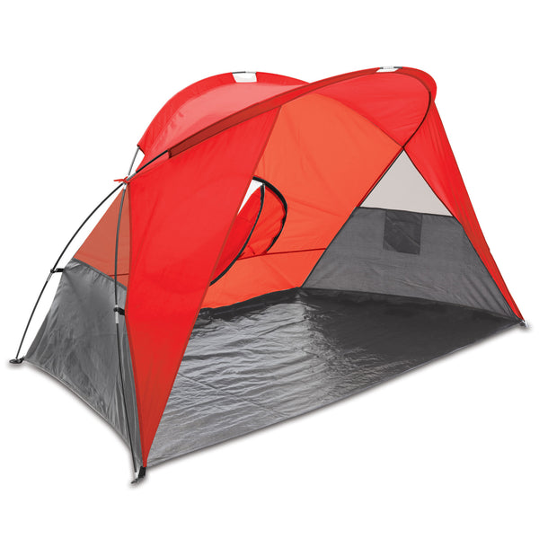 Cove Portable Beach Tent (Red with Gray Accents)