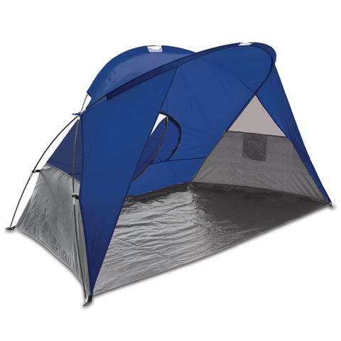 Cove Portable Beach Tent, (Blue with Gray Accents)