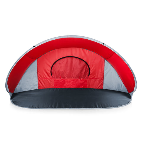 Manta Portable Beach Tent (Red with Gray Accents)