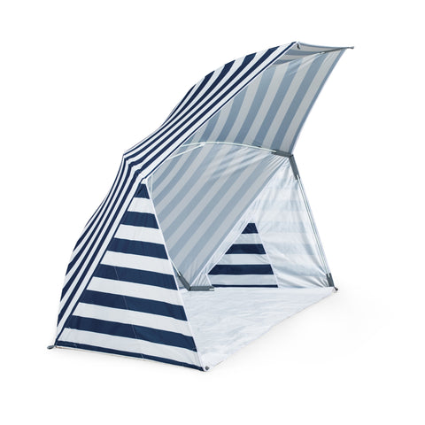Brolly Beach Umbrella Tent (Navy Blue & White Stripe)