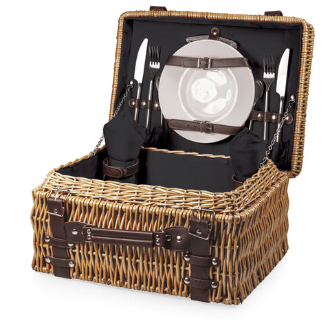 Champion Picnic Basket (Black with Brown Accents)