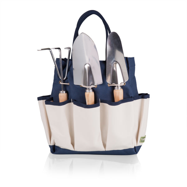Garden Tote with Tools (Navy Blue with Beige Accents)