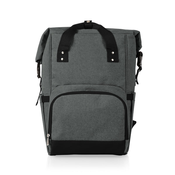 On The Go Roll-Top Cooler Backpack (Heathered Gray)