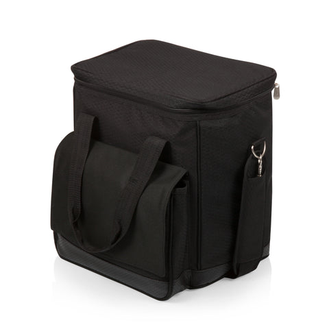 Cellar 6-Bottle Wine Carrier & Cooler Tote (Black with Gray Accents)