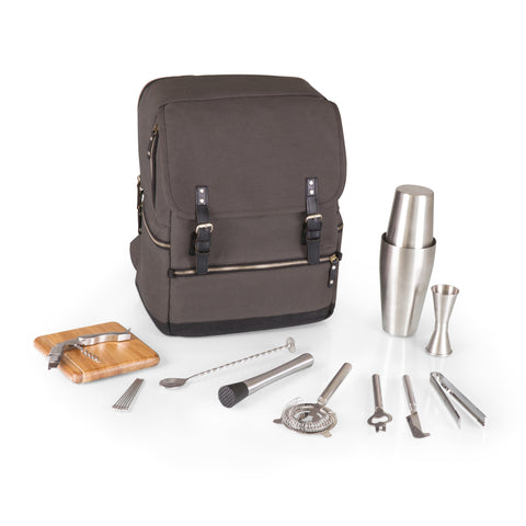 Bar-Backpack Portable Cocktail Set (Gray)