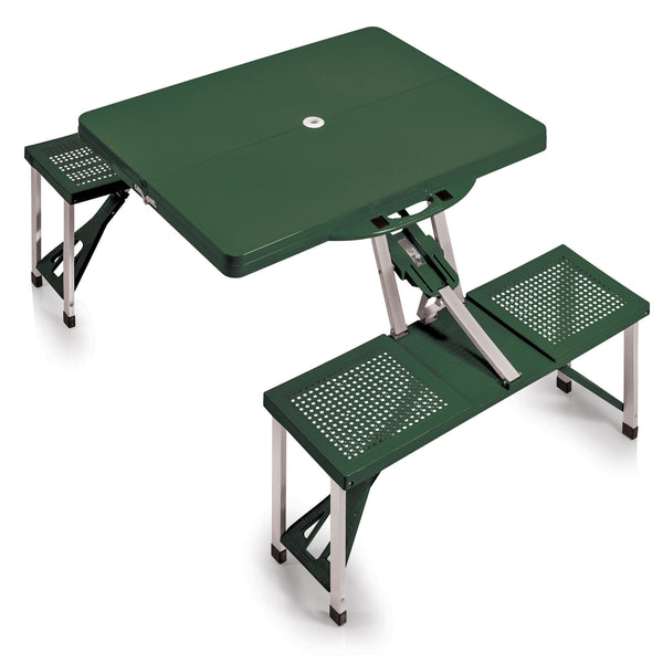 Picnic Table Portable Folding Table with Seats (Hunter Green)