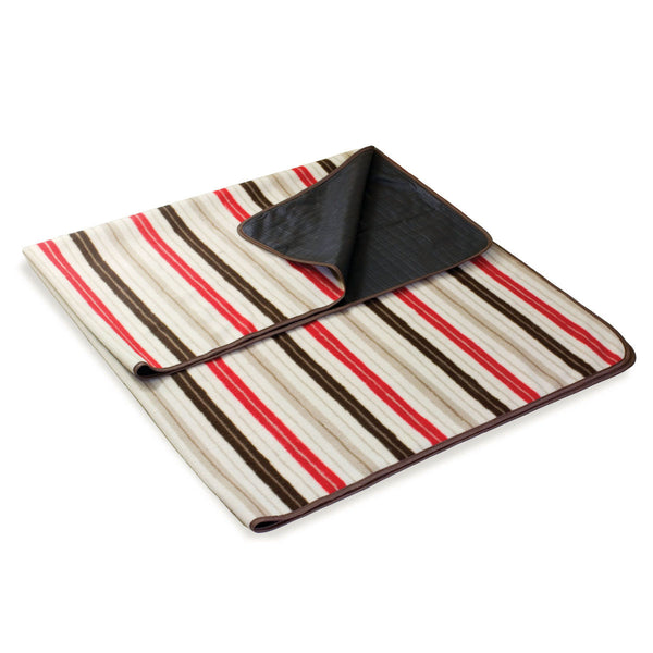Folding Two Sided Blanket Tote - Moka