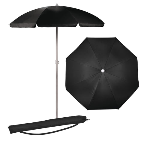 5.5 FT. Portable Beach Umbrella (Black)