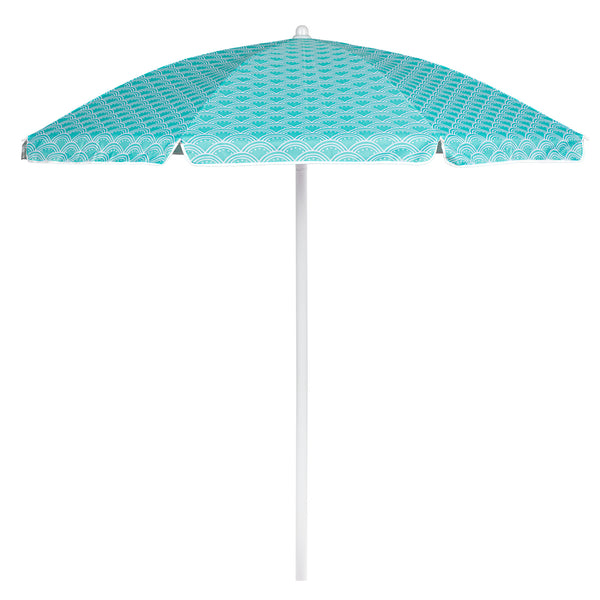 5.5 FT. Portable Beach Umbrella (Mermaid Teal)