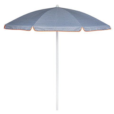 5.5 Ft. Portable Beach Umbrella Wave Break Gray Pattern
