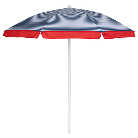 5.5 FT. Portable Beach Umbrella (Blue Pinstripe Pattern)