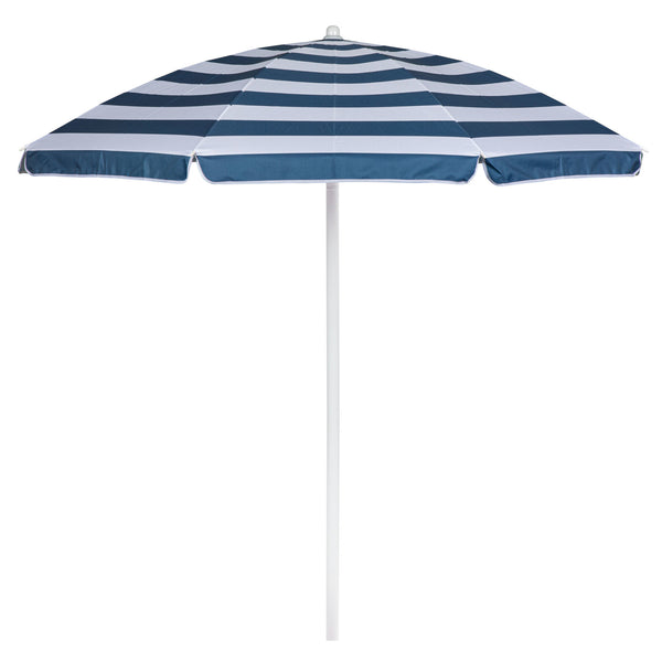 5.5 FT. Portable Beach Umbrella (Blue & White Stripe)