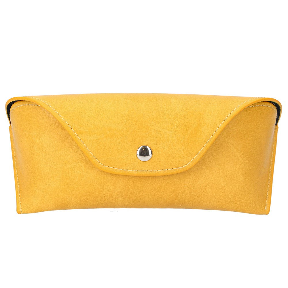 GG Mustard Leather Glasses Case