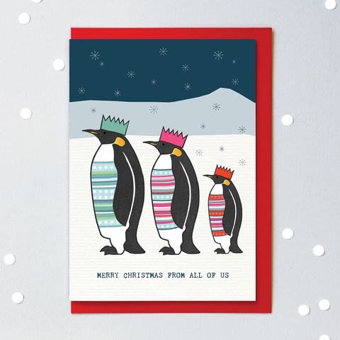 KG Merry Christmas From All Penguin Card