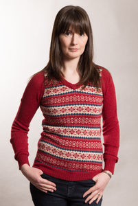 Funky Fair Isle Jumper - V Neck