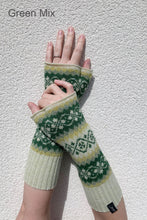Load image into Gallery viewer, Funky Fair Isle Wrist Warmers