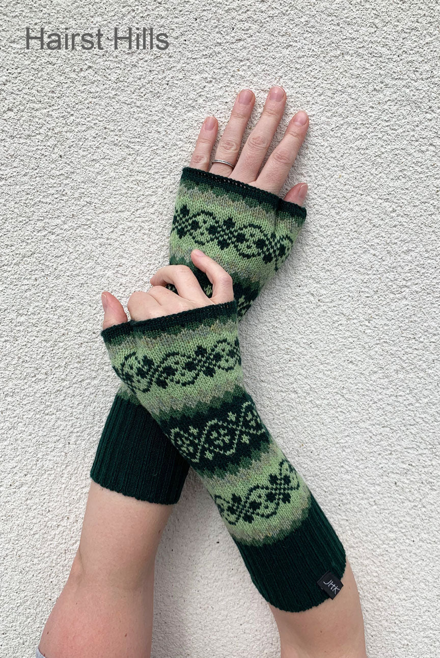 Funky Fair Isle Wrist Warmers