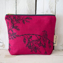 Load image into Gallery viewer, Linen Bird Toiletry Bag