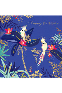 Cockatoos in Bow Ties Birthday Card